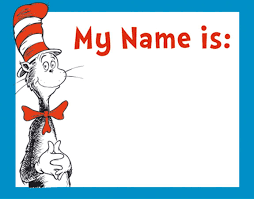 amazon com eureka dr seuss cat in the hat adhesive name tags