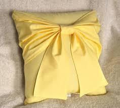 Home Decor Pillows Yellow Bow Pillow Decorative Pillow