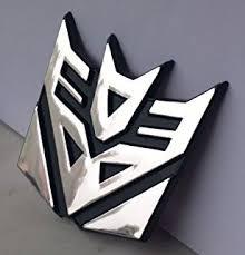 3 decepticon metal chrome 3d emblem automotive