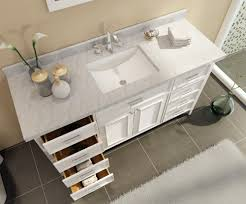 ace kensington 61 inch single sink bathroom vanity set in white finish