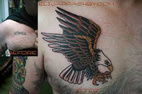 american traditional eagle cover up tattoo a cover up of a u2026 flickr