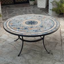 Small Mosaic Patio Table by Lovely Mosaic Patio Furniture 22 For Hme Designing Inspiration