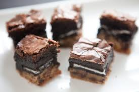 triple decker brownies