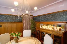 san francisco pillar candle chandelier dining room eclectic with