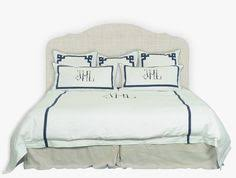 Custom Bed Linens - dorian mimi leontine linens green master bedroom pinterest