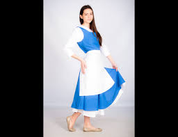 beast halloween costume belle cosplay costume blue dress the beauty and the