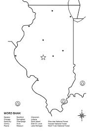 illinois map worksheet coloring page free printable coloring pages