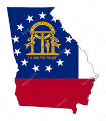 State Of Ga Map by State Of Georgia Flag Map U2014 Stock Photo Speedfighter17 39734511