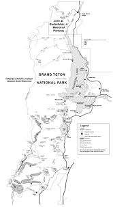 Yellowstone Park Map Backcountry Map Grand Teton National Park Map