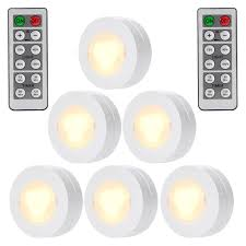 battery led lights for kitchen cabinets wireless led puck lights with remote battery powered dimmable kitchen cabinet lighting 6 pack