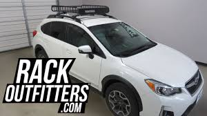 crosstrek subaru white subaru xv crosstrek with yakima loadwarrior roof top cargo basket