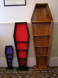 coffin bookcase