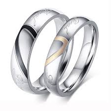 steel rings images Factory price silver color couple ring quality stainless steel jpg