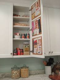 Create A Hidden Cork Board Message Center On The Inside Of A - Inside kitchen cabinets