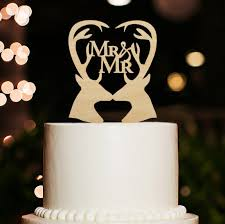 antler cake topper same cake topper rustic wedding cake topper mr and mr cake