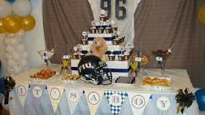 football baby shower football baby shower party ideas photo 5 of 10 catch my party