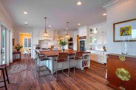 Spacious Design by Kitchen Style Classic White Cabinets Hardwood Floors Spacious