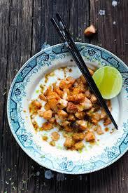 bonne cuisine rapide petit plaisir solitaire avec un saumon mariné à l asiatique dans