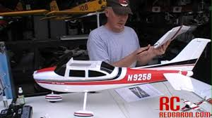 nitroplanes fms sky trainer cessna 182 build video youtube