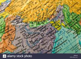 Nepal India Map by Close Up View Of Globe India And Nepal Stock Photo Royalty Free