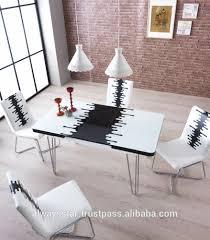 tavoli per sala da pranzo moderni risparmio di spazio vetro temperato bianco moderno tavolo da