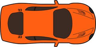 car clipart simpleorangecartopview svg