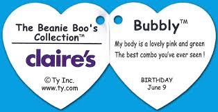 bubbly ty beanie boos