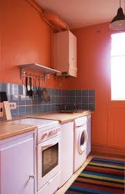 cuisine couleur orange déco cuisine orange blanc exemples d aménagements