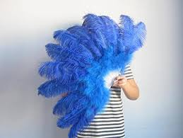 large feather fans 80 45cm large ostrich feather fan burlesque