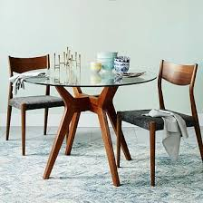 Glass Table Kitchen by Best 25 Round Oak Dining Table Ideas On Pinterest Round Dining