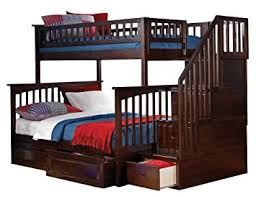 2 Bunk Beds Columbia Staircase Bunk Bed With 2 Raised Panel Bed