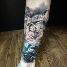 37 lovely cat tattoos on leg