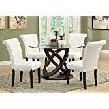 Glass Table Kitchen by Amazon Com Glass Tables Kitchen U0026 Dining Room Furniture Home