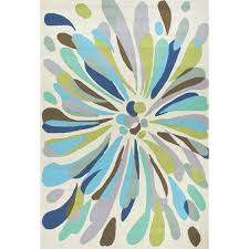 Blue And Green Outdoor Rug Jaipur Rugs Colours Flowerburst 2 X 3 Indoor Outdoor Rug Blue