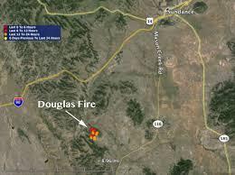 Wyoming Road Map Wyoming Douglas Fire Southwest Of Sundance U2013 Wildfire Today