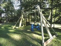 Backyard Swing Ideas 34 Free Diy Swing Set Plans For Your Backyard Play Area