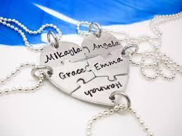 best friends puzzle necklace images Heart puzzle piece necklace 5 piece puzzle set 5 best friends jpg