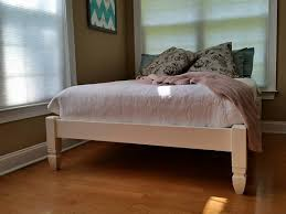 handmade four post low profile chelsea bed in solid wood u2014 painted