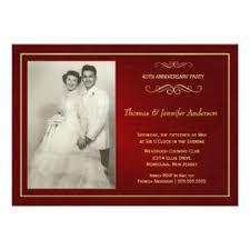 40th anniversary invitations ruby wedding anniversary invitations announcements zazzle