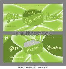 green gift voucher vector illustration gift voucher vector illustration increase sales stock vector