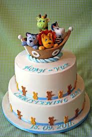 Noah S Ark Decorations Noah U0027s Ark Christening Cake Cakecentral Com