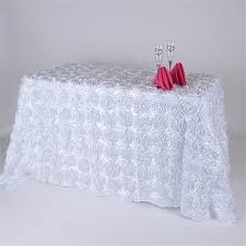 90 X 132 Tablecloth Fits What Size Table by White 90 X 132 Inch Round Corner Polyester Rectangle Tablecloths