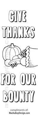 printable coloring thanksgiving bounty bookmark mochabaydesign