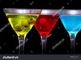 martini drinks colorful martini cocktail drinks glasses stock photo 53280052