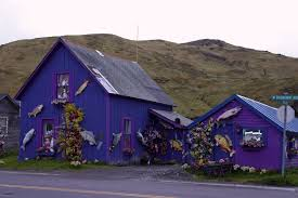 alaska house free images nature road house purple town home village