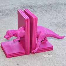 doodlecraft dinosaur bookends with glue