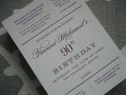navy bean letterpress 90th birthday invitations parties