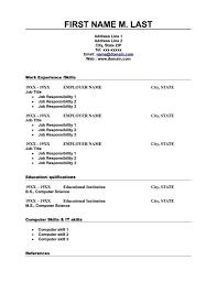 blank resume template blank resume format free 79 interesting sle resume