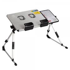 801 cf aluminum panel portable laptop folded desk stand with pull