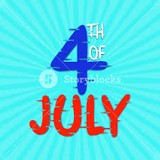 American Flag In Text American Flag Colors Text 4th Of July On Sky Blue Rays Background